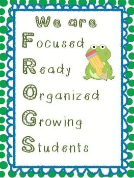 We are FROGS poster $1 on TpT