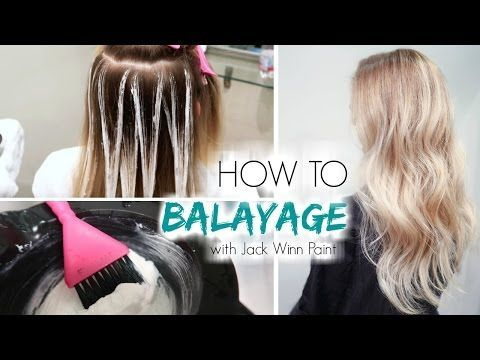 How to Balayage Hair | Freehand Painting - YouTube