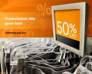 Use the free computers for sale PowerPoint template to add a touch ...