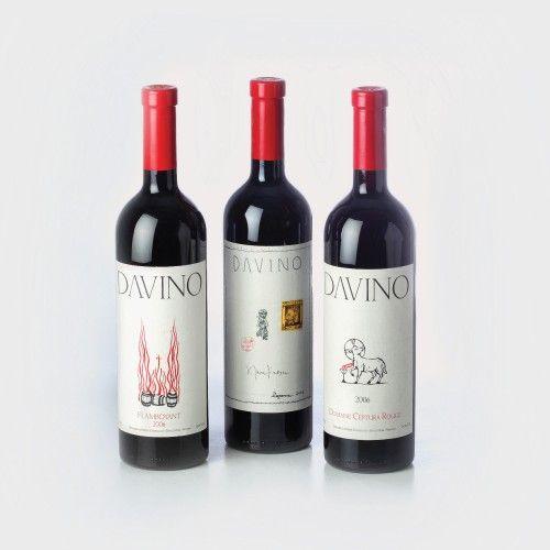DAVINO Domaine Ceptura Rouge 2006 75 cl., 1 sticlă x 75 cl, DAVINO Flamboyant 2006 75 cl., 1 sticlă x 75 cl, DAVINO Rezerva Roșu 2006 75 cl., 1 sticlă x 75 cl. Dealu Mare, România Preţ de pornire: € 150
