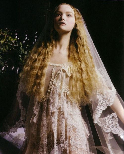 """""""Magnificent Excess"""". Gemma Ward by Mario Sorrenti for Vogue Italia September 2005"""