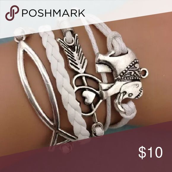 JUST IN 💋 ELEPHANT INFINITY BRACELET Leather cord multi strand (one piece) bracelet w lobster clasp.  PRICE IS FIRM UNLESS BUNDLED. BUNDLES GET 30% OFF Jewelry Bracelets