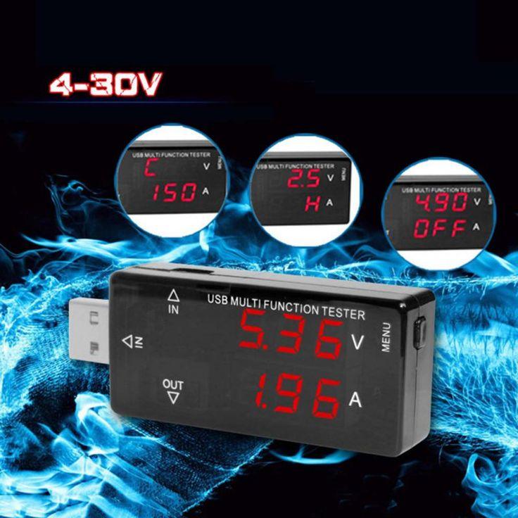 LED Dual USB Cargador Tegangan Arus baterai Detector Probador Del Amperímetro Del Voltímetro