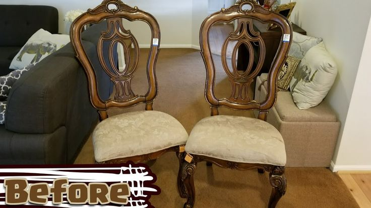 Thrifty Makeover! | Upholistering Old Dining Chairs (Full Ver.)