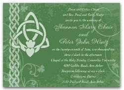 3044 Irish Wedding Invitation Ireland Claddagh Card