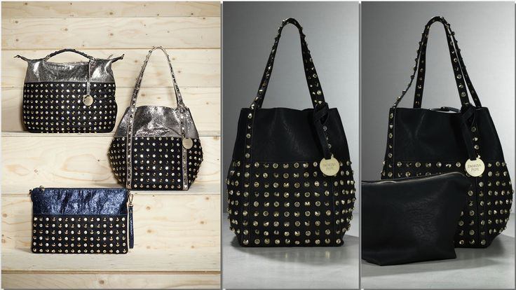 Most wanted BAG: Just don't let it pass by! http://patriziape.pe/1fzldpl  Follow link and shop now for co-leather bag with rhinestone and studded detailing, Swarovski rhinestone detailing, shiny Eco Leather, Patrizia Pepe maxi detachable coin pendant [dimensions/cm L22xH32xD22]
