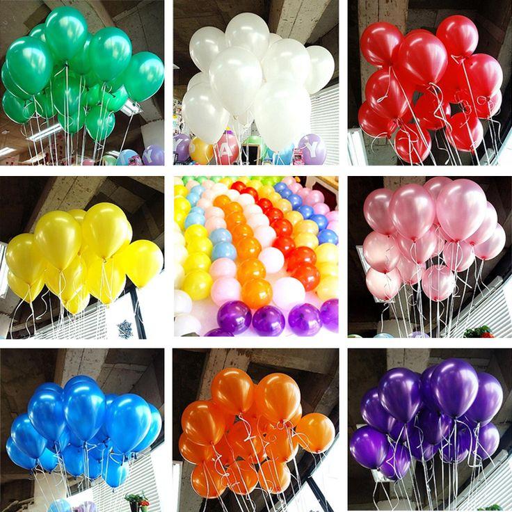 Hot 10 stks/partij 10 inch Parel Ballon Air Ballen Opblaasbare Bruiloft Decoratie Verjaardag Kid Party Float Ballonnen Speelgoed