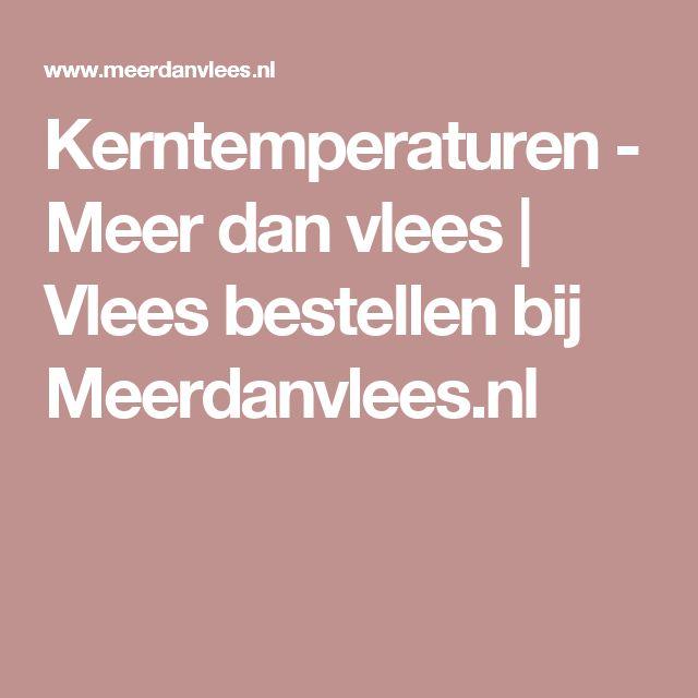 Kerntemperaturen - Meer dan vlees | Vlees bestellen bij Meerdanvlees.nl