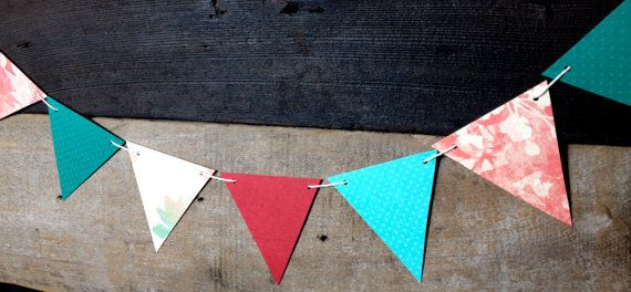 Paper Banner by littleseaweeds on Etsy