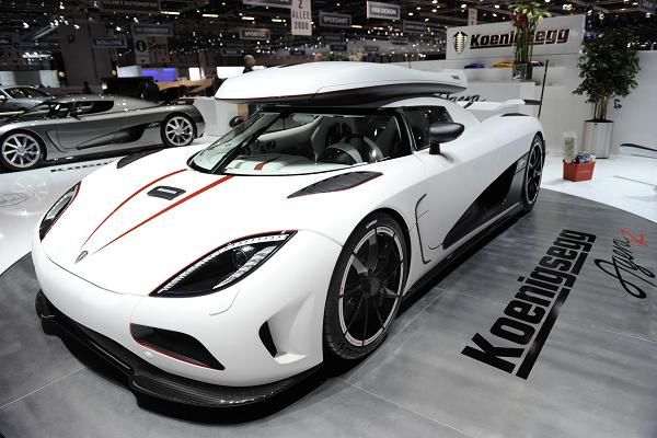 Koenigsegg Agera R: $1.6 million Debuting in 2011, the Agera R can accelerate from 0–62mph in 2.8 seconds and has a theoretical top speed of 273 mph. It also set several land speed records for a two-seat production car: it can go from zero to 300 kilometers per hour then back to zero in 21.19 seconds.