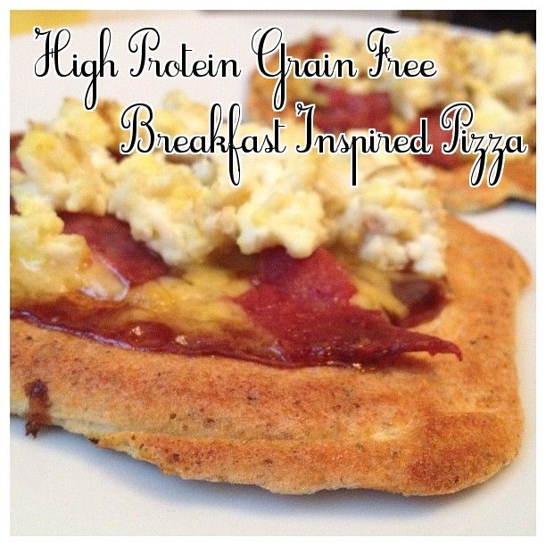 high protein grain free - breakfast inspired pizza #fitfluential