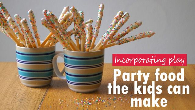 Involving your kids in party prep: Chocolate grissini wands | Village VoicesVillage Voices