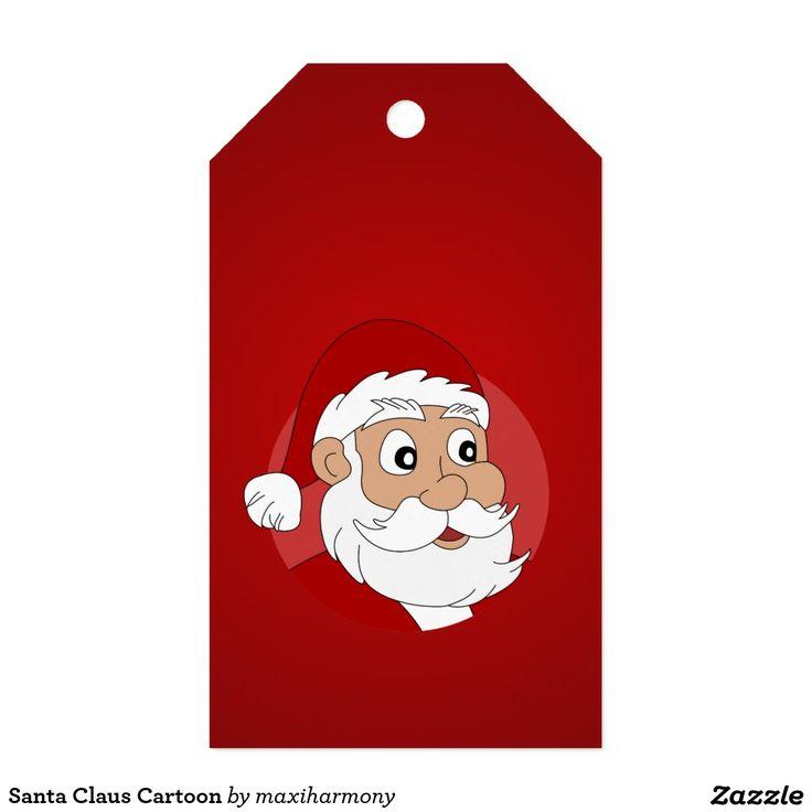 Santa Claus Cartoon Pack Of Gift Tags