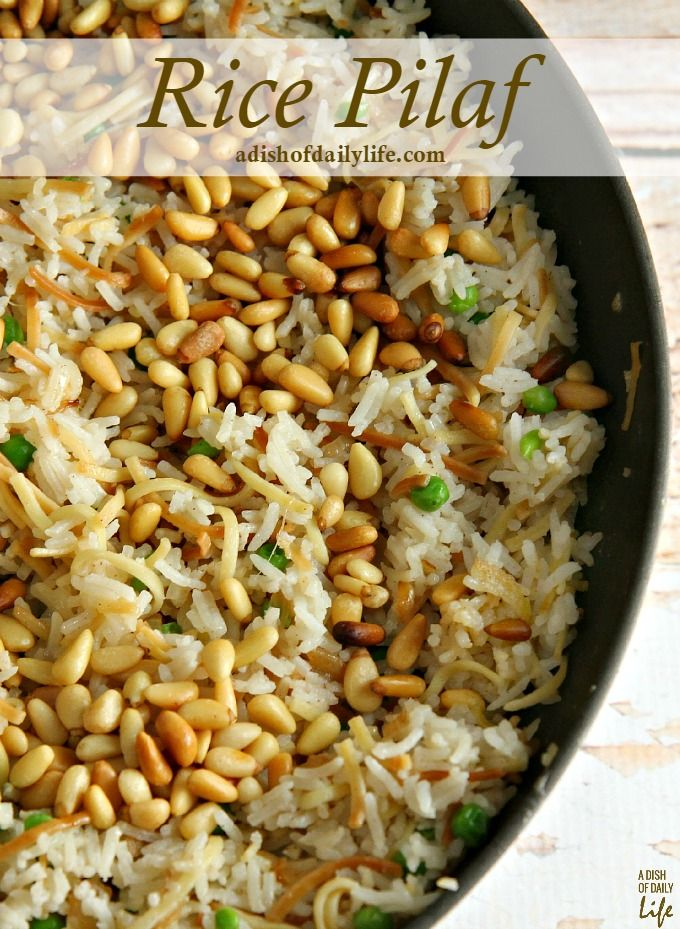 This delicious Rice Pilaf recipe was inspired by my husband's Lebanese roots. It's an elegant, easy-to-make side dish, the perfect addition to your Easter or any holiday menu! 30 mins #ad #HolidayRiceRecipes @carolinariceusa