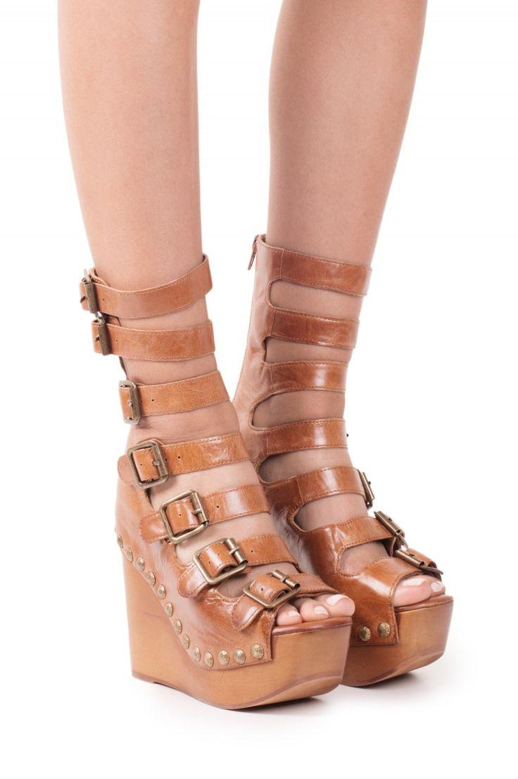 Jeffrey Campbell Shoes OMEGA Platforms in Tan