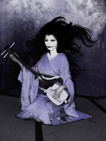 "Kuchisake-Onna (The Slit Mouthed Woman) - Japanese folklore: She was once the very beautiful wife or concubine of a samurai. In a jealous rage, he mutilated her face. Her ghost returned, covering part of her face with a kimono sleeve, asking wanderers ""Do you think I'm beautiful?""  She would reveal her face with a 'yes' and ask ""Do you think I'm Beautiful now?""  Various bad things happen with just about any answer. Her modern form seems to wear a 'cold mask'; modern sightings have caused…"