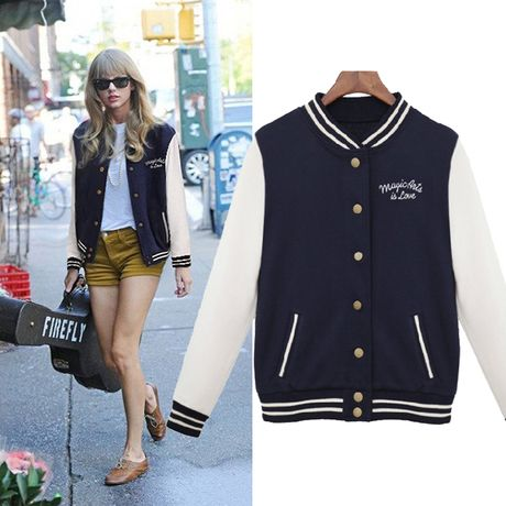 2015 NEW Spring Coat Baseball Jacket Women Fashion Bomber Sport Jackets College Varsity Jackets Casaco Jaquetas