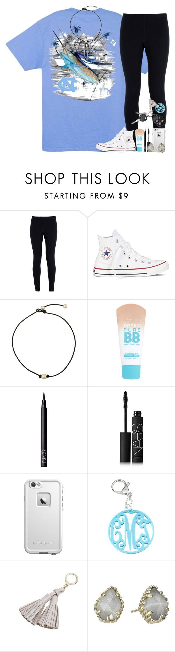 """day 7; carolina football game"" by abbypj ❤ liked on Polyvore featuring NIKE, Converse, Maybelline, NARS Cosmetics, LifeProof, Kate Spade, Kendra Scott and madimadsfall2k16"