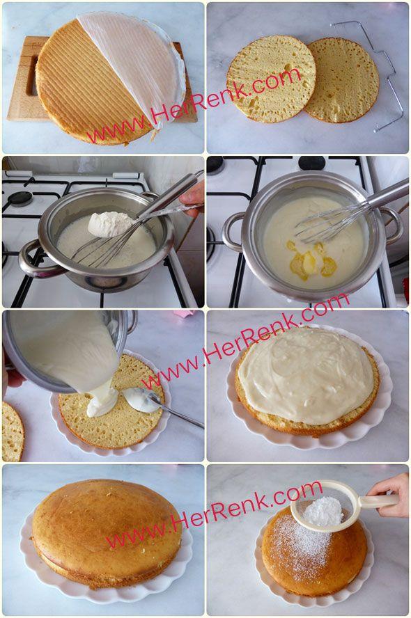 Alman Pastası Tarifi/Kabartma Tozlu-garantili,denenmiş,pasta tarifleri,basit pasta,alman pastası nasıl yapılır,alman pastası kreması,pratik alman pastası,pastalar,tarif,5 çayı için pasta tarifleri,5 çayı ikramları,pasta,pasta tarifi,