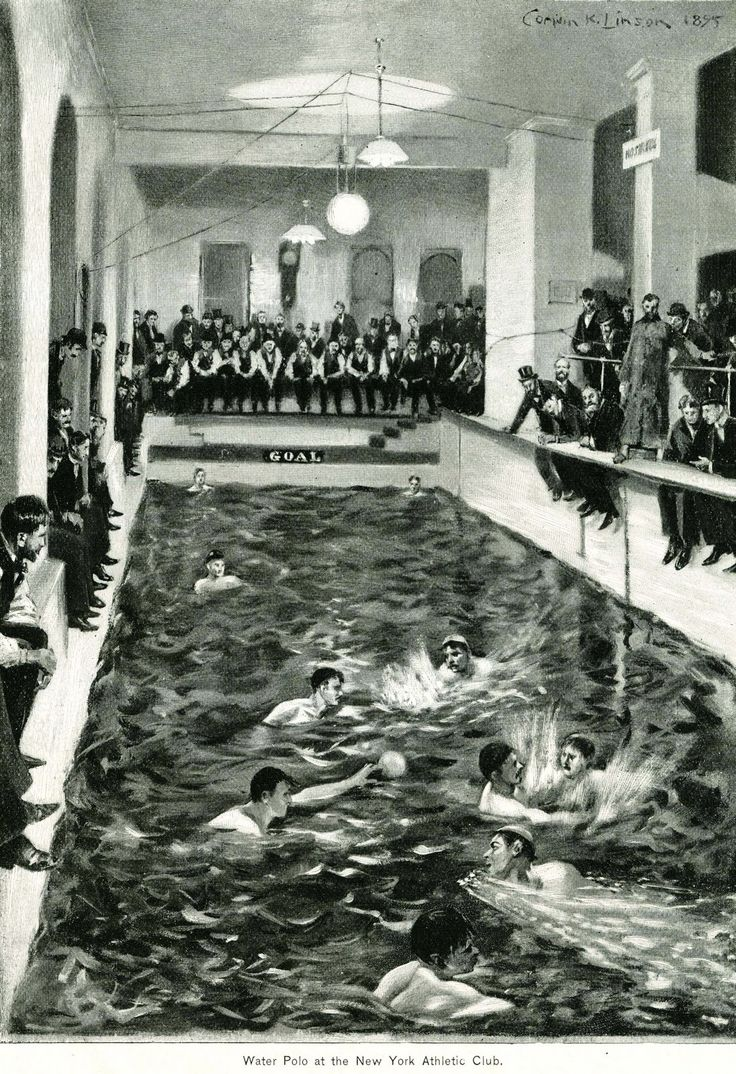 1895 Match in the New York Athletic Club Water polo