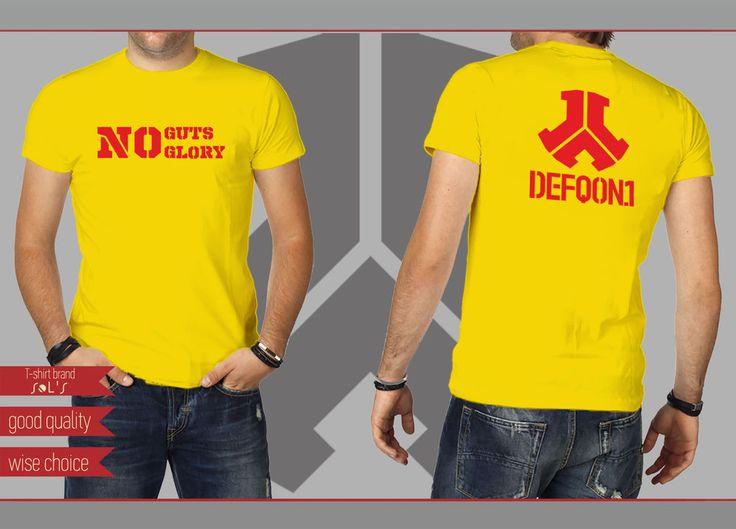 HARDCORE HARDSTYLE FESTIVALS T-shirt GOLD YELLOW Size: S - XXL (DF336) #SOLS #HARDCOREHARDSTYLEFESTIVALS