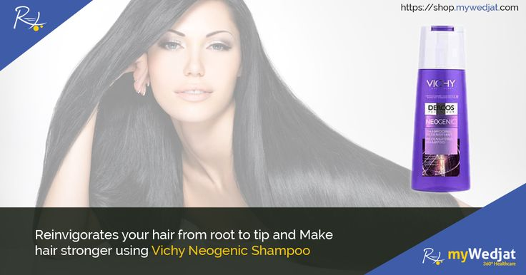 Reinvigorates your hair from root to tip and Make hair stronger using Vichy Neogenic Shampoo #myWedjat #Vichy #HairCare