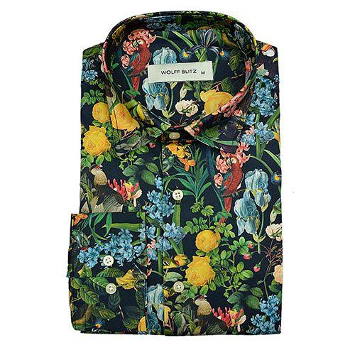 Bloemen Overhemd.Bloemen Print Overhemd Wolff Blitz De Birds In Paridise Voor Mannen
