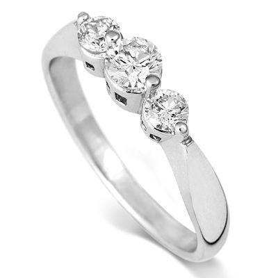 18ct White Gold 0.5ct Diamond Ring - Coolrocks