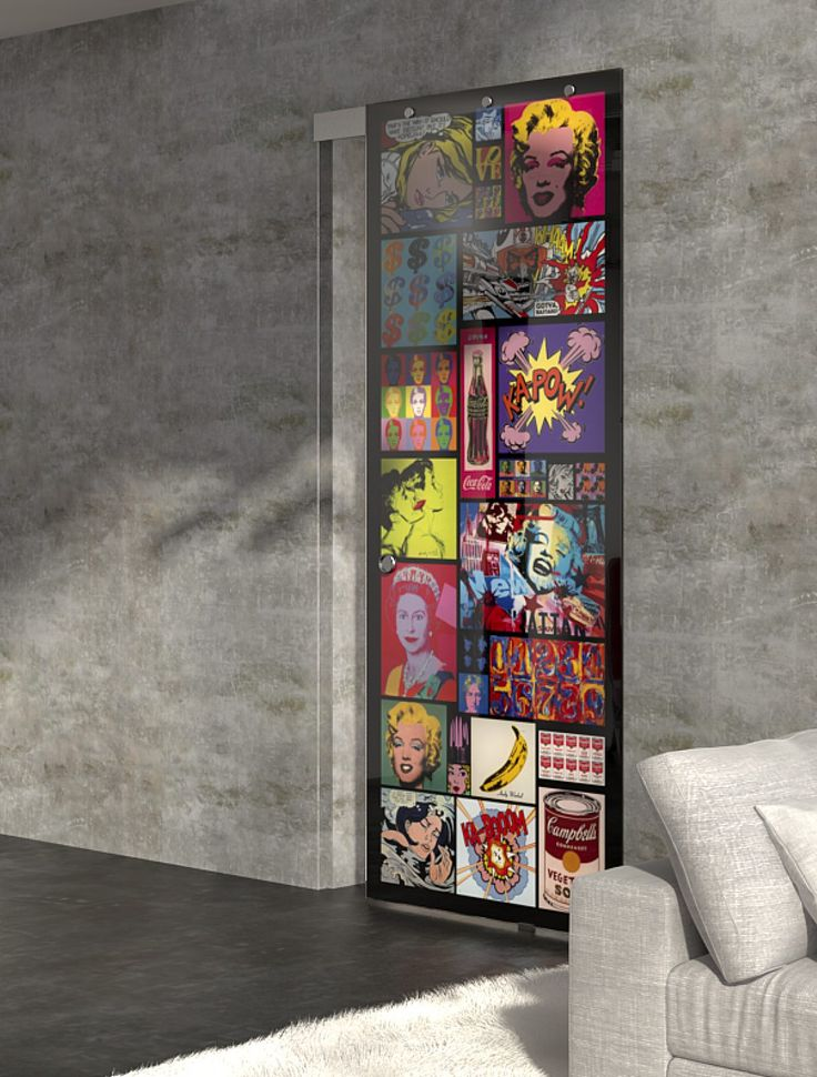 Sliding Door, glamour design, glass, interior design, pop art, marilyn