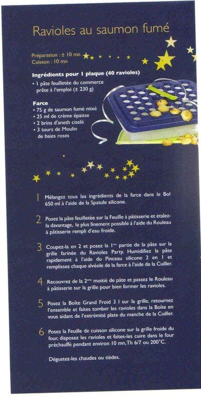 Fiche recette Tupperware: Ravioles Party - Ravioles au saumon fumé