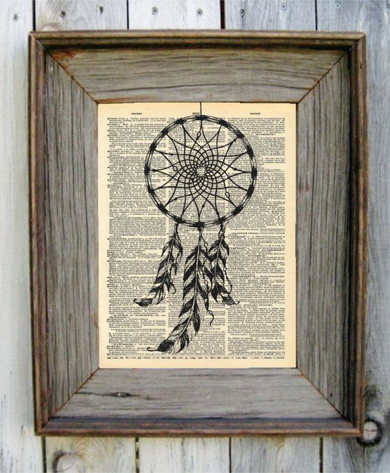 Dream Catcher Dictionary Art Print by wildandfreeprints on Etsy