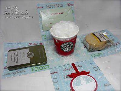 Starbucks gift - pretty explosion box