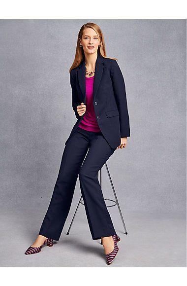 27d30a40c977 Seasonless Crepe Two-Button Jacket   Talbots   Women's Suiting   WORKWEAR    BUSINESS SUIT