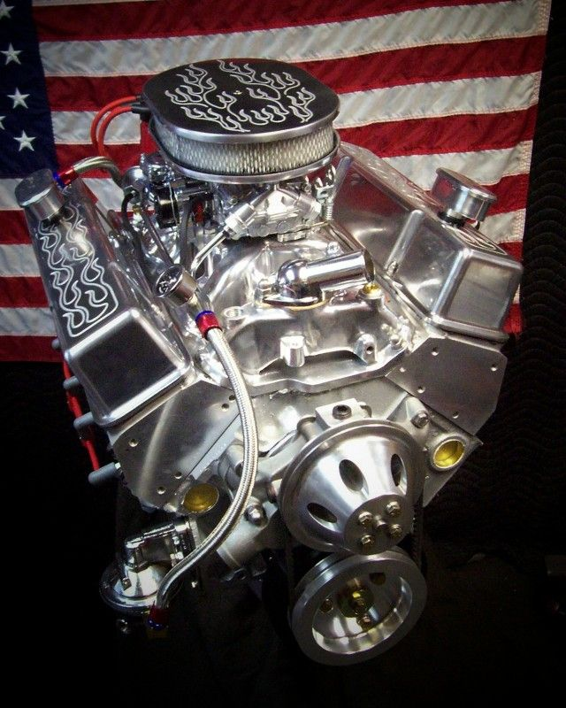hot chevy motors | Thread: New Chevy 355cid / 380+BHP Flamed hot rod engine....