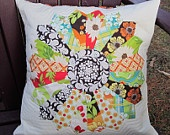 Dresden Plate Pillow Cover 1  in Meadowsweet fabrics. $33.00, via Etsy.