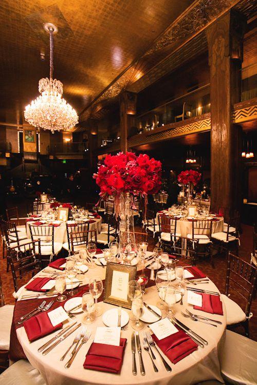 Glamorous downtown la wedding at cicada restaurant