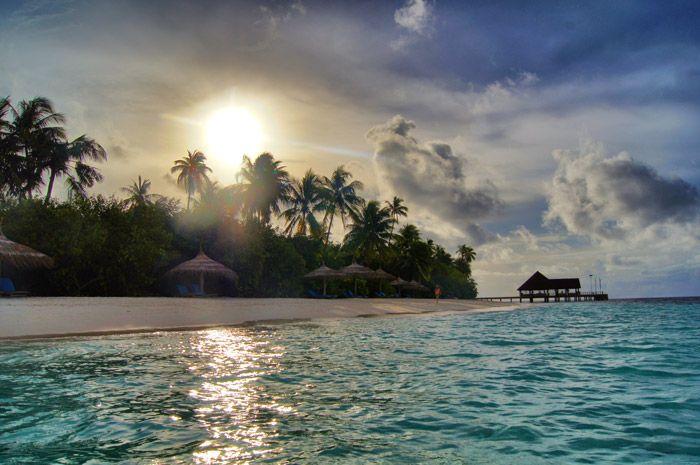 Robinson-Club-Maledives-Sonnenuntergang