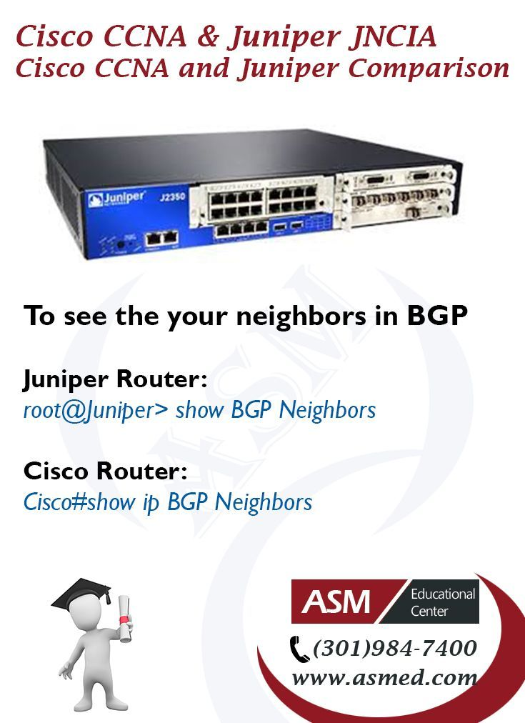 Cisco CCNA and Juniper Junos JNCIA Certification - To check if link is up or down. For More info please visit http://asmed.com/juniper-networks-certified-associate-junos-jncia-junos-jn0-102/