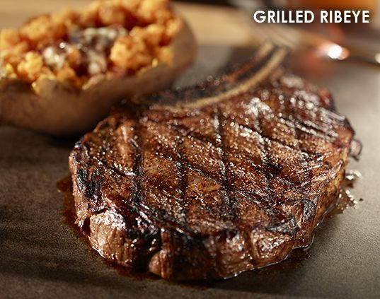 Grilled Ribeye  Three recipes from LongHorn's. After opening this link, there will be three tabs showing the recipes for this steak as well as their recipes for their salmon and a chicken dish.