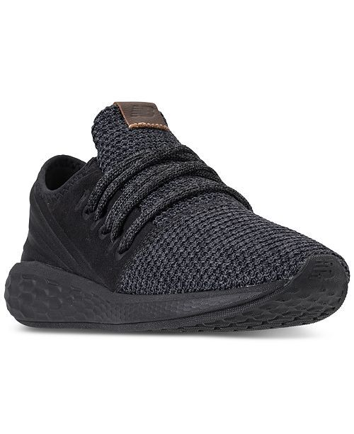 outlet store ae38c dfdb1 New Balance Women s Fresh Foam Cruz V2 Decon Running Sneakers from Finish  Line - Black 5.5 in 2018   footwear   Pinterest   Maine, Footwear and  Running ...