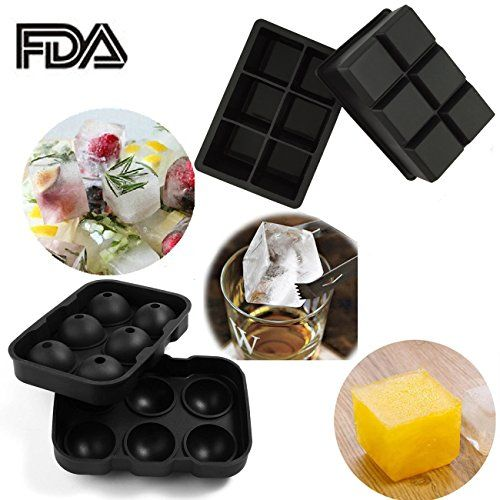 SySrion® Silicone Ice Cube Trays, Round Ice Cube Mold & Large Square Ice Cube Tray, Combo Silicone Molds - Ice Cube Tray Mold & Ice Sphere Mold SySrion  *For Cocktails and Whiskey, et cetera. http://www.amazon.com/dp/B015CGFUMO/ref=cm_sw_r_pi_dp_Y55Lwb0NTKDNS