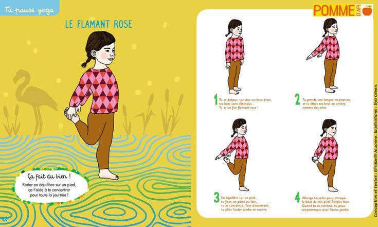Flamingo – Yoga of Apple of Api #pommedapi #yoga #yogachild #yogapourenfant #child