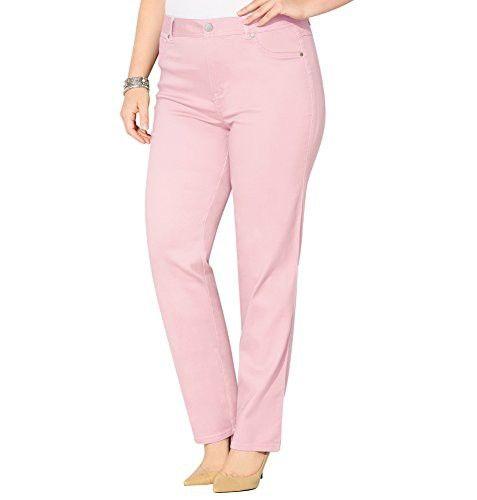 b22b4d3a18 AVENUE Women s Butter Denim Straight Leg Jean (Pink)