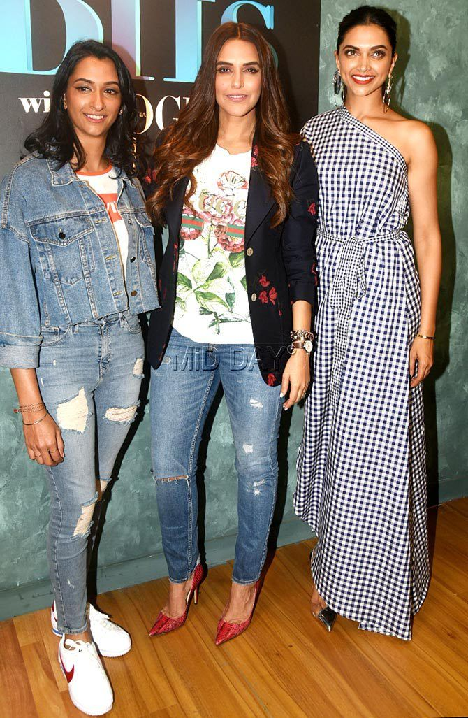 Deepika Padukone With Sister Anisha On Neha Dhupia S Chat Show Teenage Fashion Outfits Bollywood Fashion Fashion Teenage