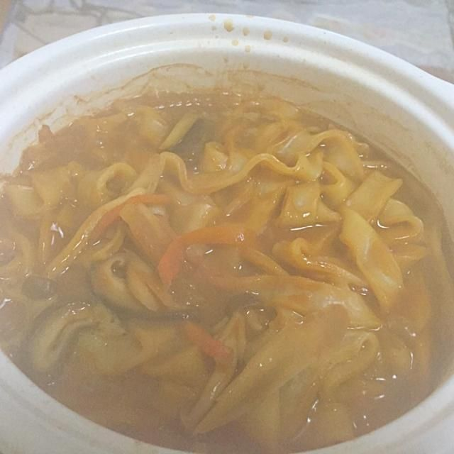 昨日のせんべい汁の出汁に赤味噌加えて - 41件のもぐもぐ - 鍋焼き味噌煮込みうどん by Tarou  Masayuki