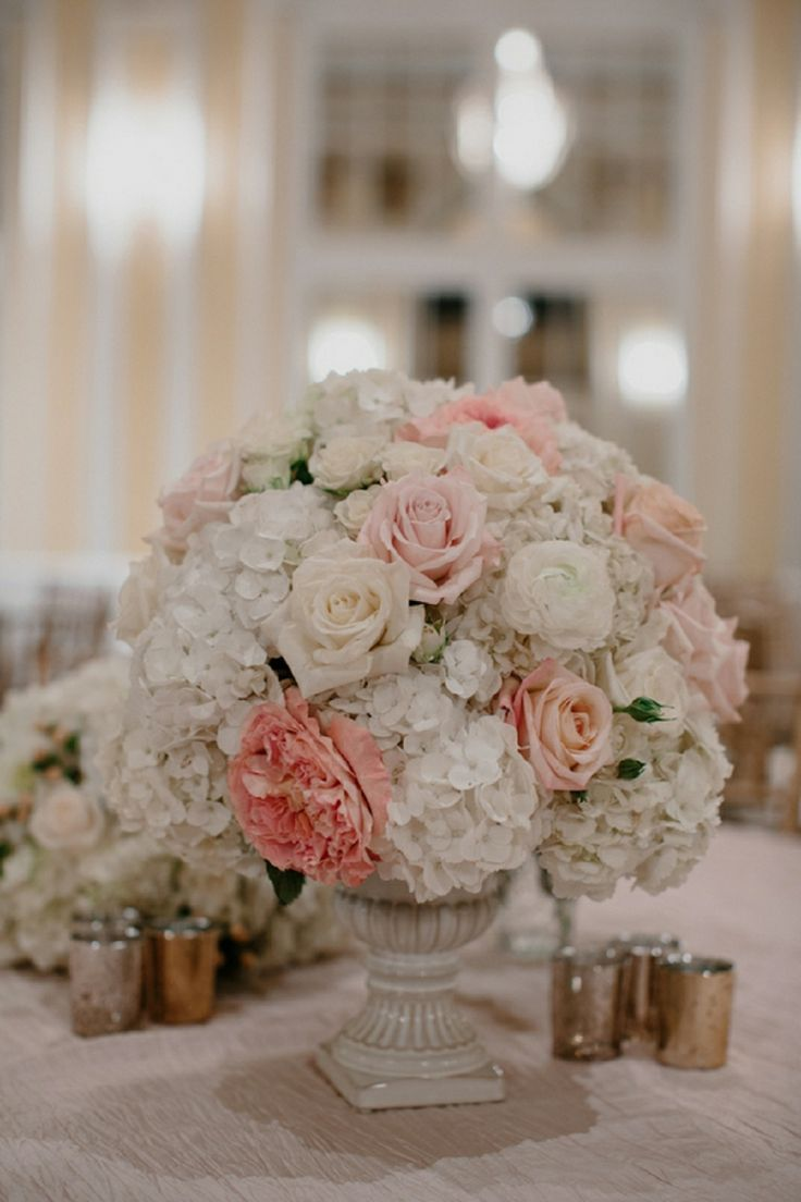 Romantic Pink & Gray Michigan Ballroom Wedding | Pink grey ...