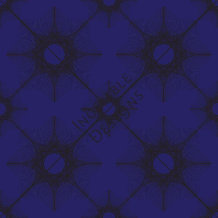 ID#28CE — Iɴðɛʟɪʙʟɛ Ðɛsɪǥɴs #screenprint #printdesign #textiledesign #textileprint #blue #navy #linear #fan #layer #black #perspective #line #star