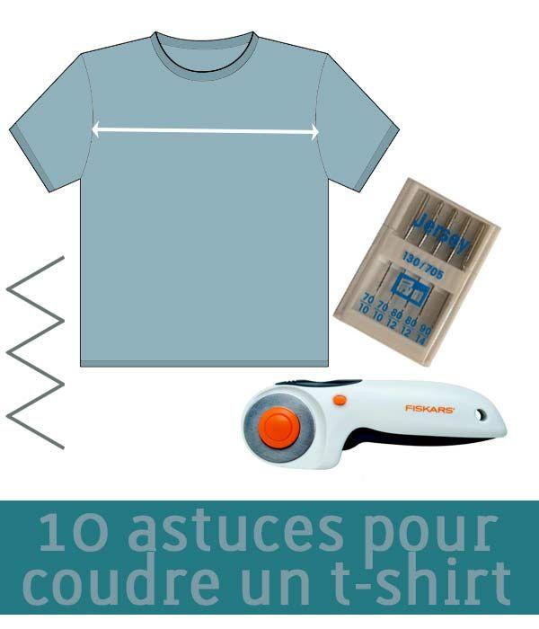 Vous rêvez de coudre des t-shirts sans avoir jamais osé vous lancer ? En lisant ces 10 astuces, vous serez paré(e)s !