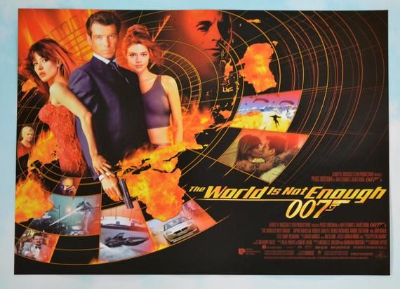 007 The World Is Not Enough Mini Quad Movie Poster Pierce