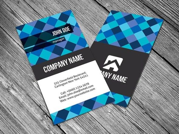 37 best free business card templates images on pinterest free this vertical business card design features diagonal pixels mosaic for background its clean and modern design is what makes this template stand out reheart Gallery
